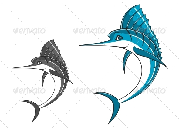 Big Blue Marlin - Animals Characters