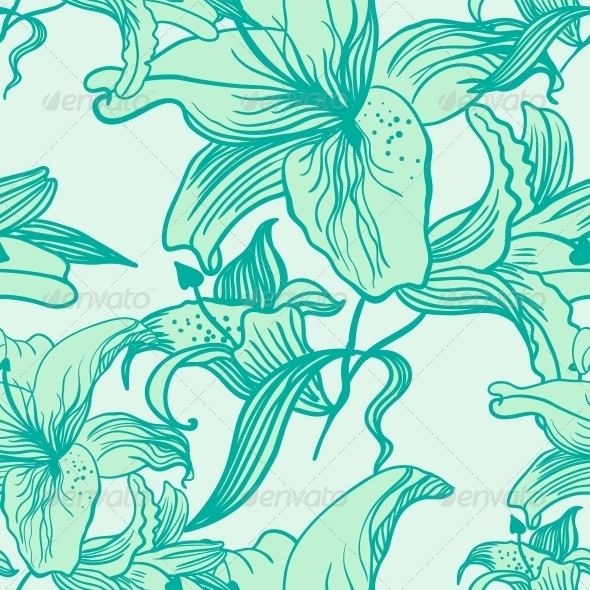Abstract Elegance Seamless pattern - Flowers & Plants Nature
