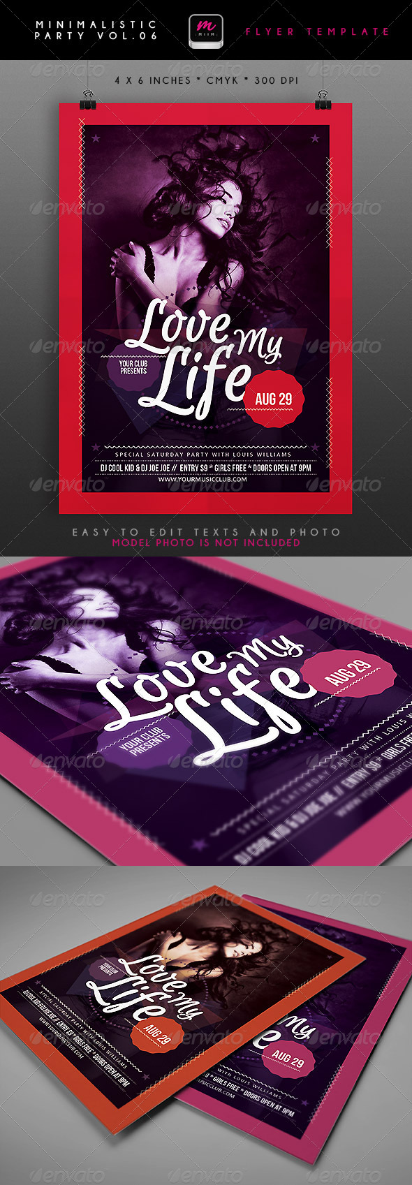 Minimalistic Party Flyer 6 - Clubs & Parties Events