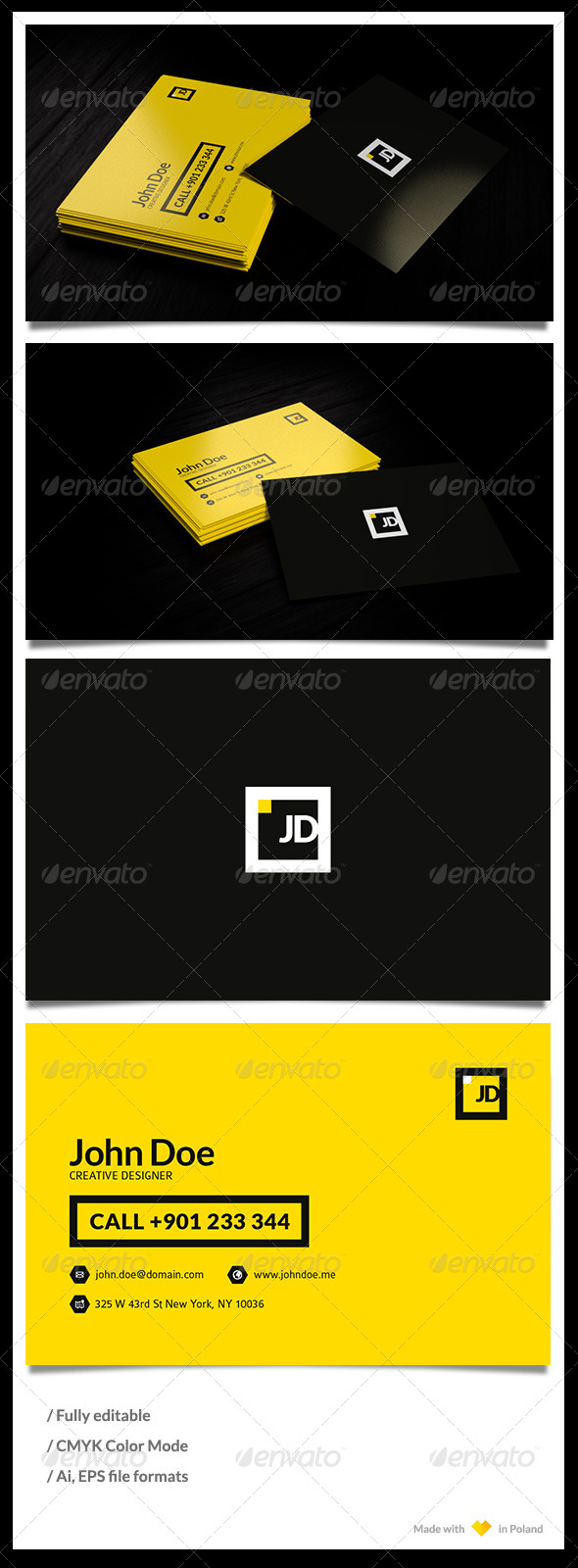 Personal Bussiness Card Template - Corporate Business Cards