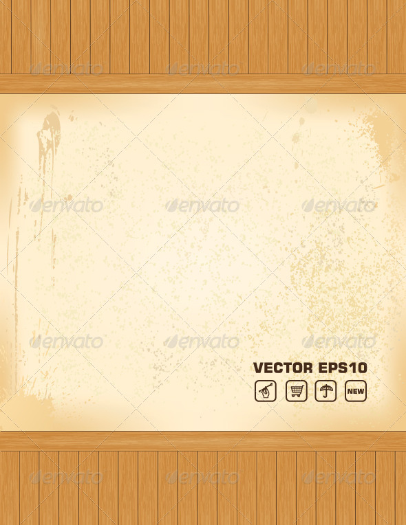 Wooden Vector Background - Backgrounds Decorative