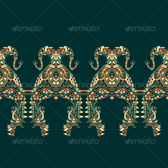 Ornate Vector Dragon Patterns - Backgrounds Decorative