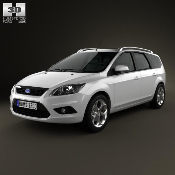 Ford Focus estate 2008 - 3DOcean Item for Sale
