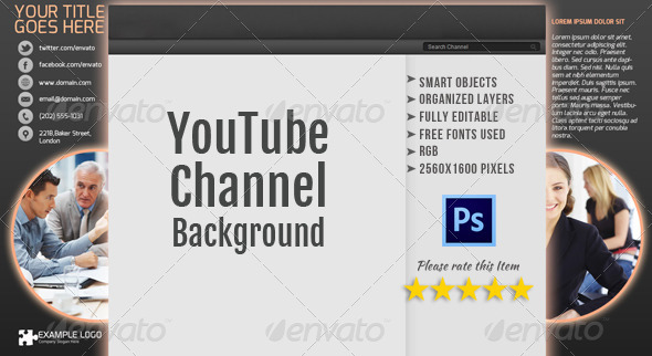 Corporate YouTube Channel Background Template 2 - YouTube Social Media