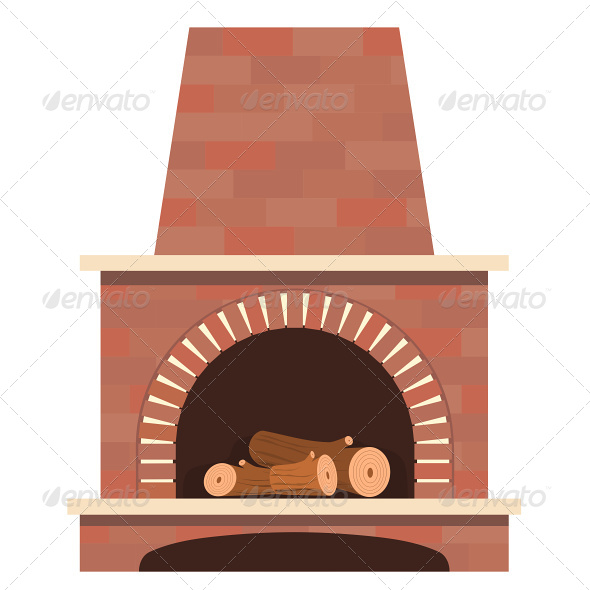 House Fireplace Vector - Buildings Objects