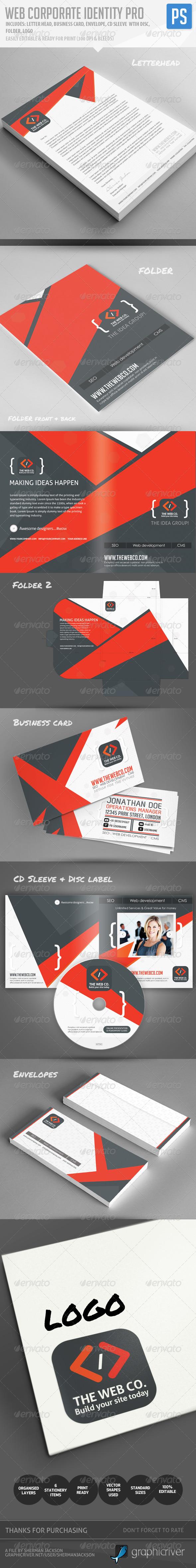 Web Corporate Identity Pro  - Stationery Print Templates