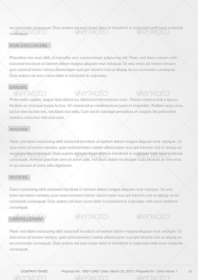 Proposal Template Package By Unicogfx Graphicriver