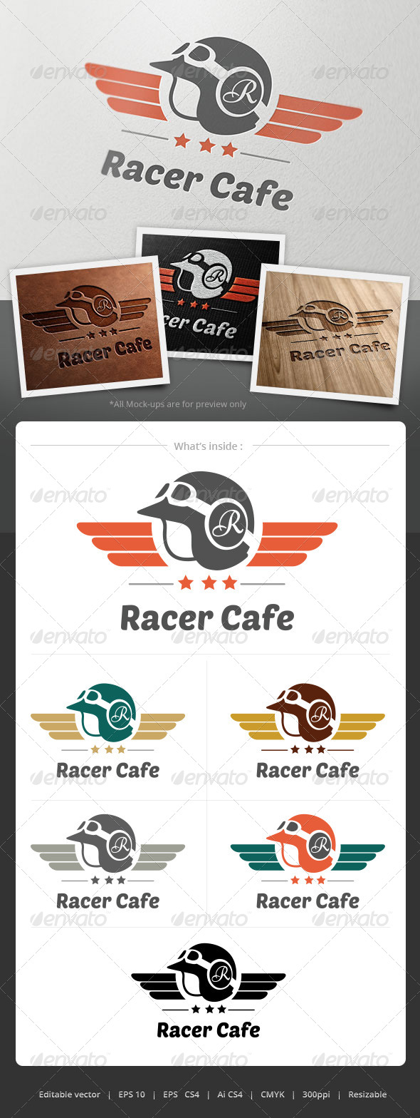 Racer Cafe Logo - Objects Logo Templates
