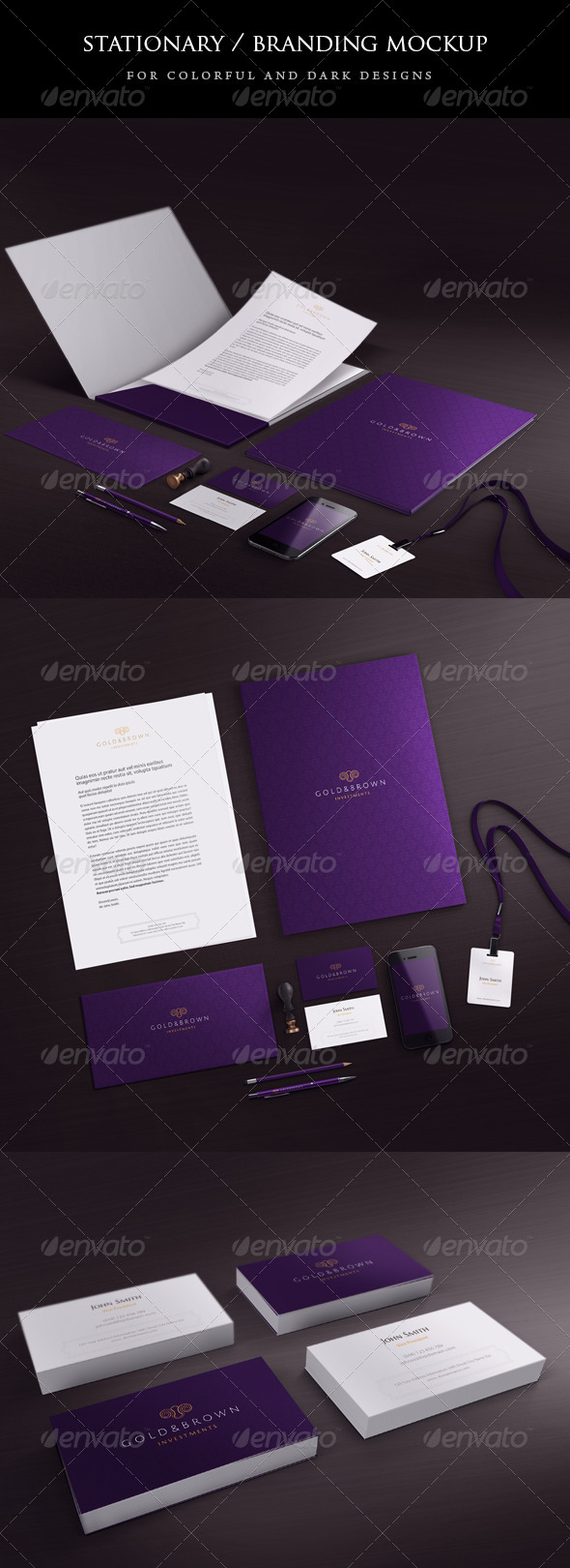 Stationary / Branding mock-up - Stationery Print