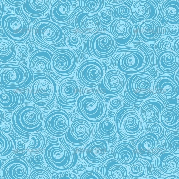 Waves and Curls Background.  - Patterns Decorative