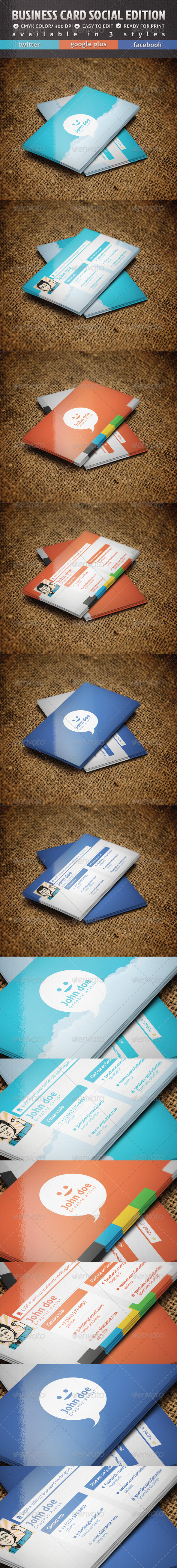 Business Card Social Edition - Creative Business Cards