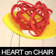 3D Heart on Yellow Chair - GraphicRiver Item for Sale