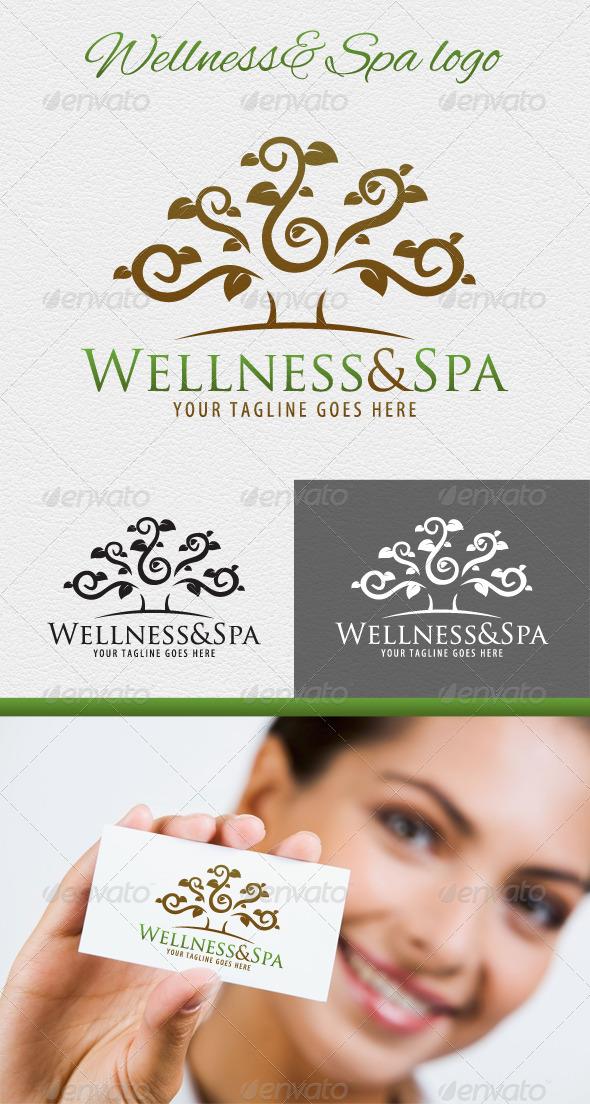 Wellness and Spa Logo - Nature Logo Templates
