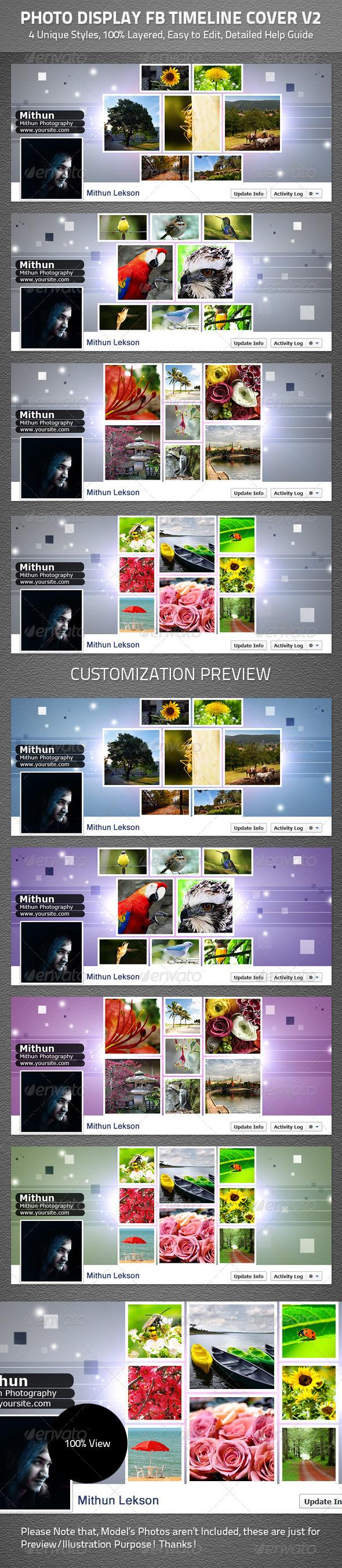 Photo Display Facebook Timeline Cover V2 - Facebook Timeline Covers Social Media