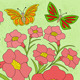 Flowers and Butterflies Color Background - GraphicRiver Item for Sale