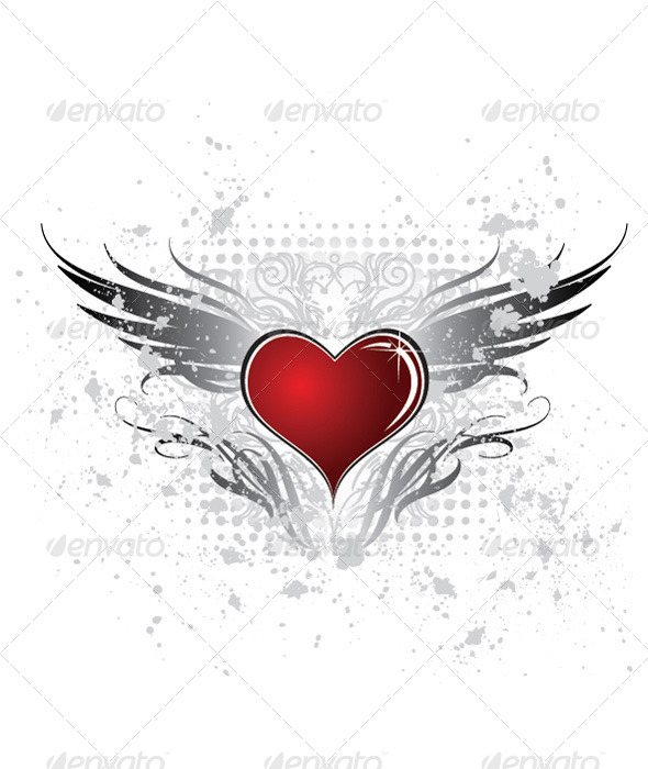 Heart Wing - Backgrounds Decorative