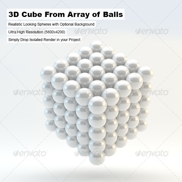 3d Cube From Array of Balls - 3D Renders Graphics