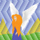 Woman Angel on Mosaic Background - GraphicRiver Item for Sale