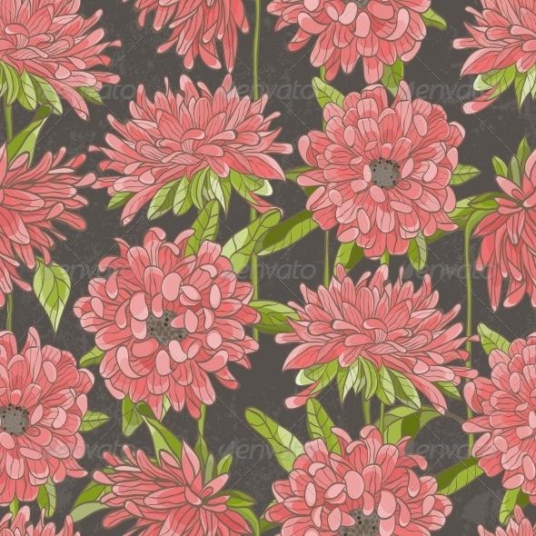 Seamless Floral Pattern - Flourishes / Swirls Decorative