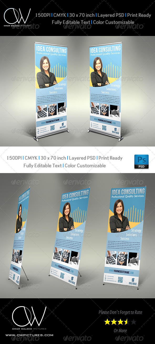 Corporate Roll-Up Signage Banner Vol.2 - Signage Print Templates