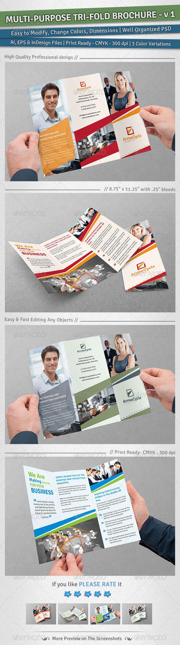 Multi-Purpose Tri-Fold Brochure | Volume 1 - Corporate Brochures