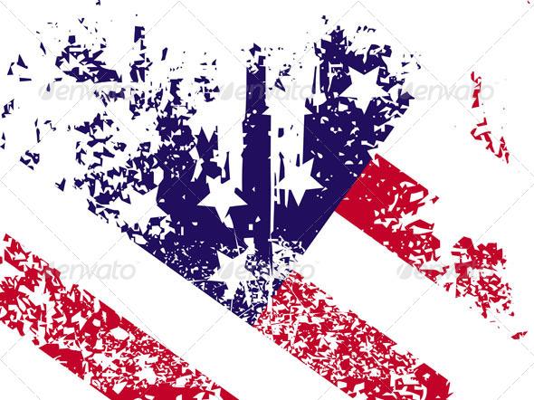 Flag of USA  - Backgrounds Decorative
