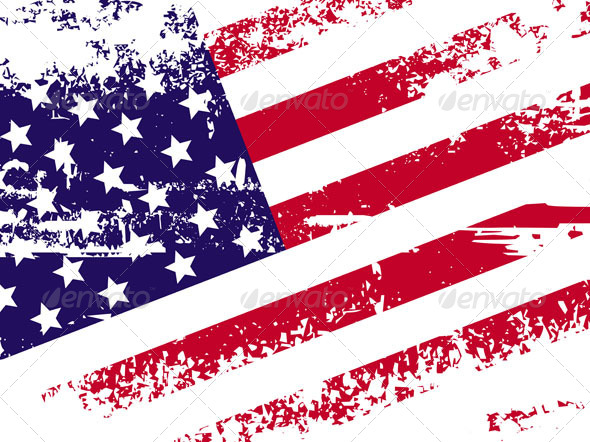 Flag of America - Backgrounds Decorative