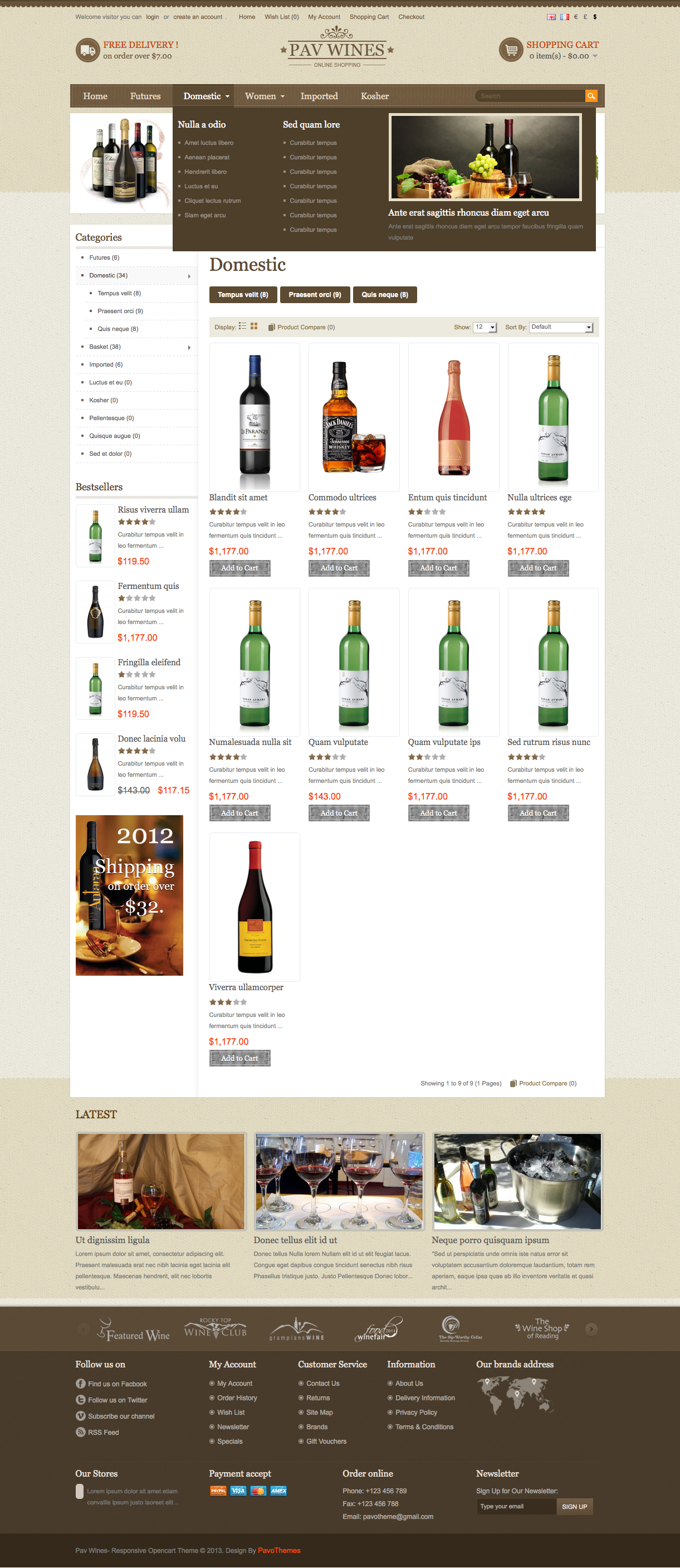 Pav Wines Responsive Theme By Pavothemes Themeforest