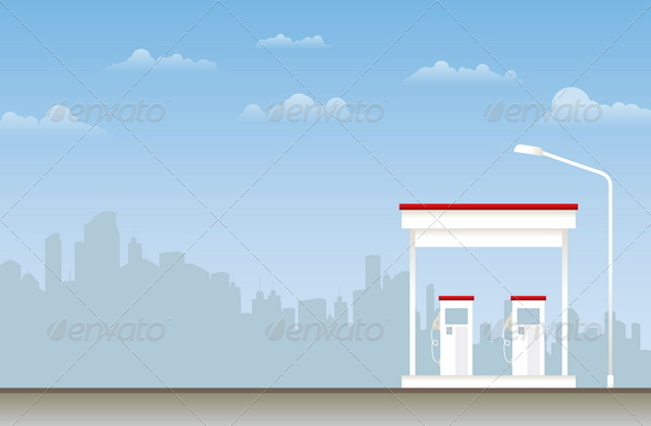 Gas Station - Backgrounds Business