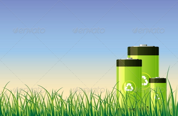 Green Batteries - Man-made Objects Objects