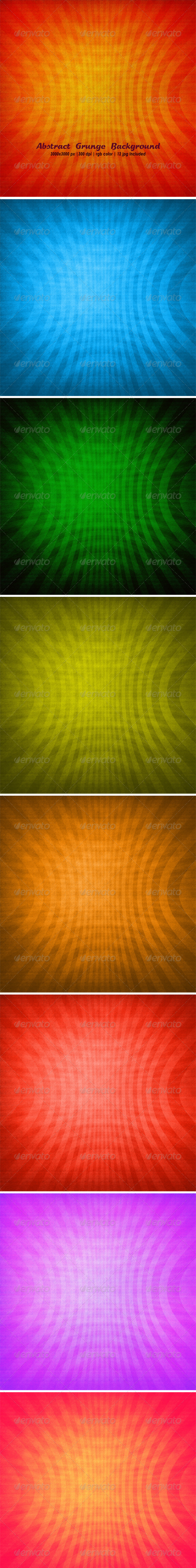 Abstract Grunge Background Set  - Backgrounds Graphics