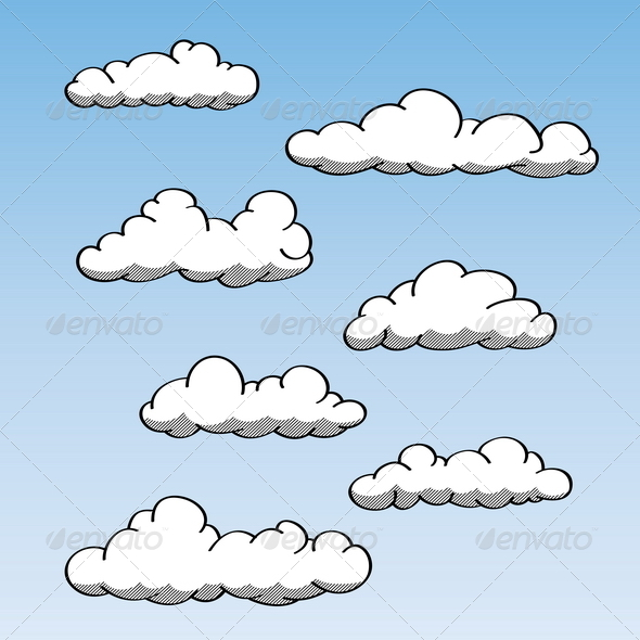Hand Drawn Clouds - Nature Conceptual