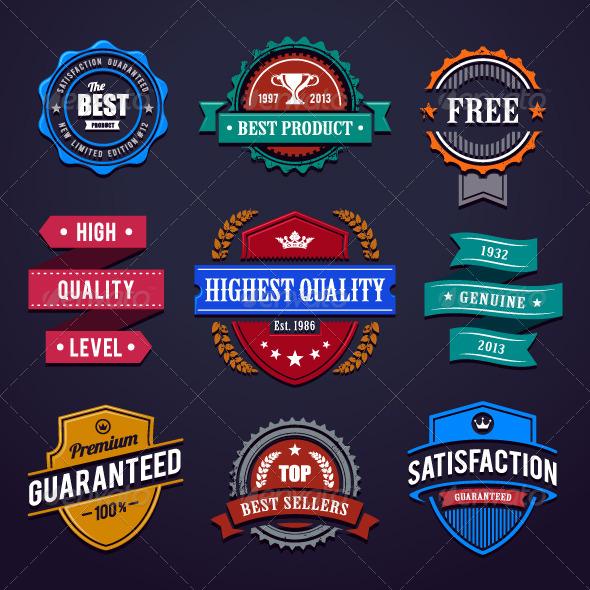 Vintage Premium Quality Labels - Vectors
