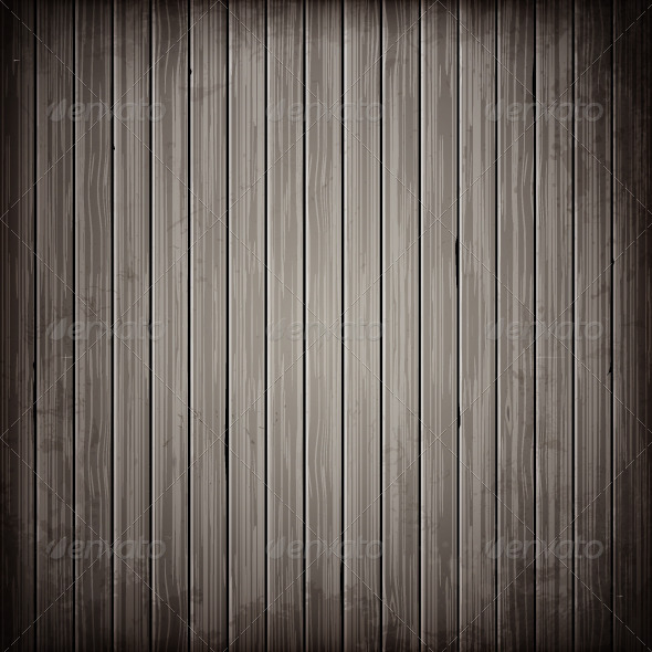 Wooden Grey Plank Background - Vectors