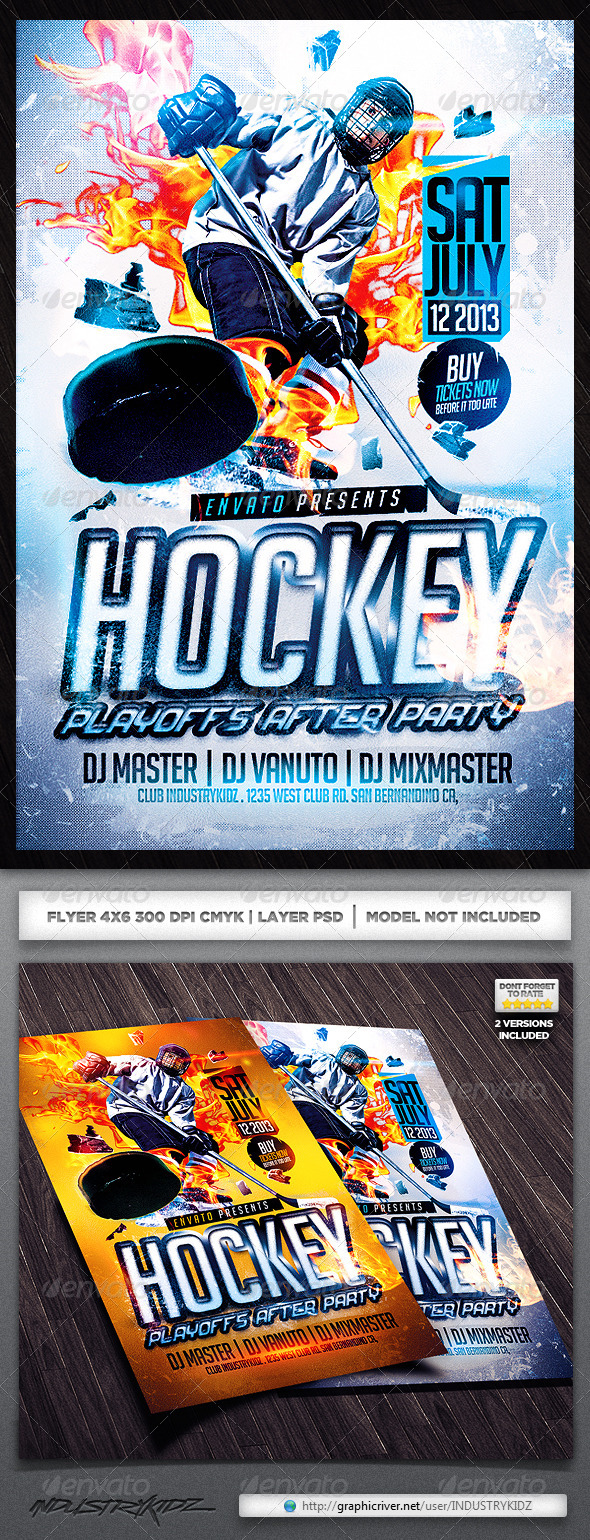 Hockey Flyer Template by INDUSTRYKIDZ | GraphicRiver