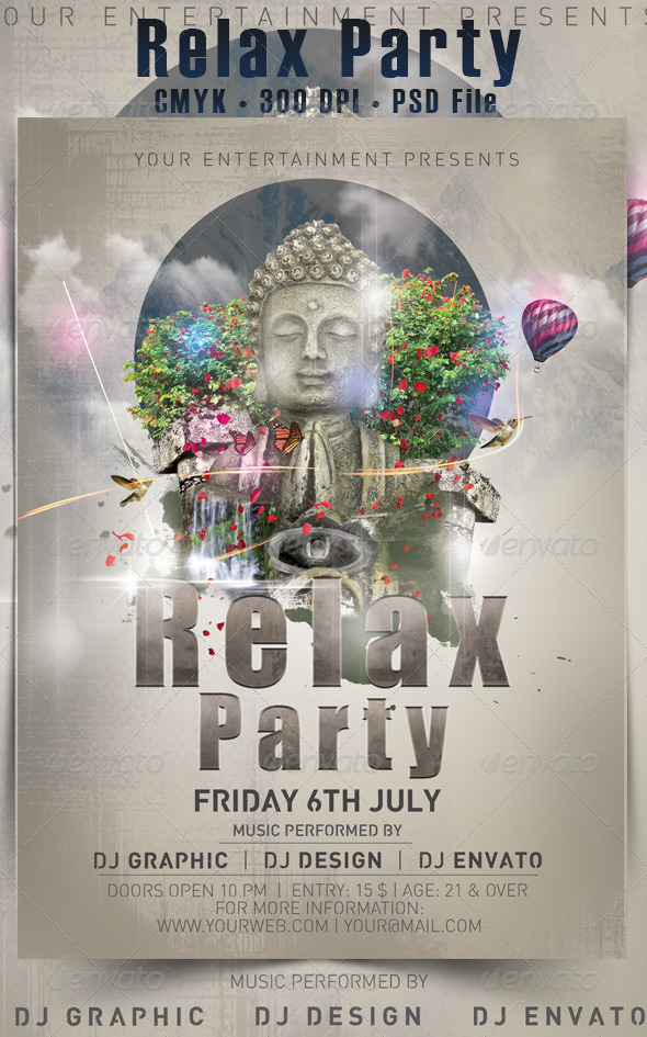 Relax Party Flyer - Events Flyers