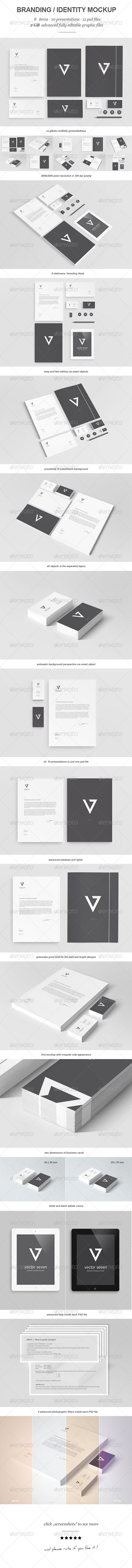 Branding / Identity Mock-up II - Stationery Print