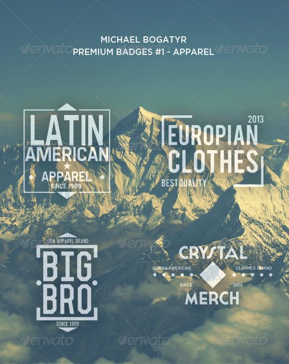 Premium Badges #1 - Apparel - Badges & Stickers Web Elements