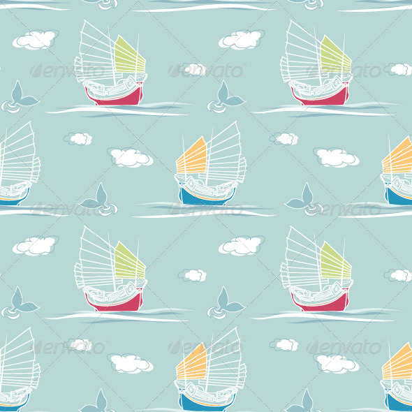 Sailing Pattern - Backgrounds Decorative