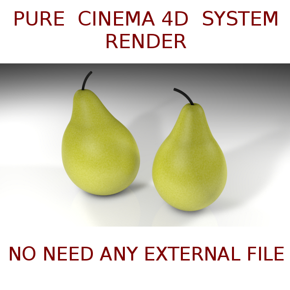 2 Pears  3D - 3DOcean Item for Sale