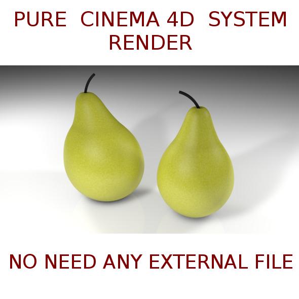 2 Pears  3D - 3DOcean Item for Sale