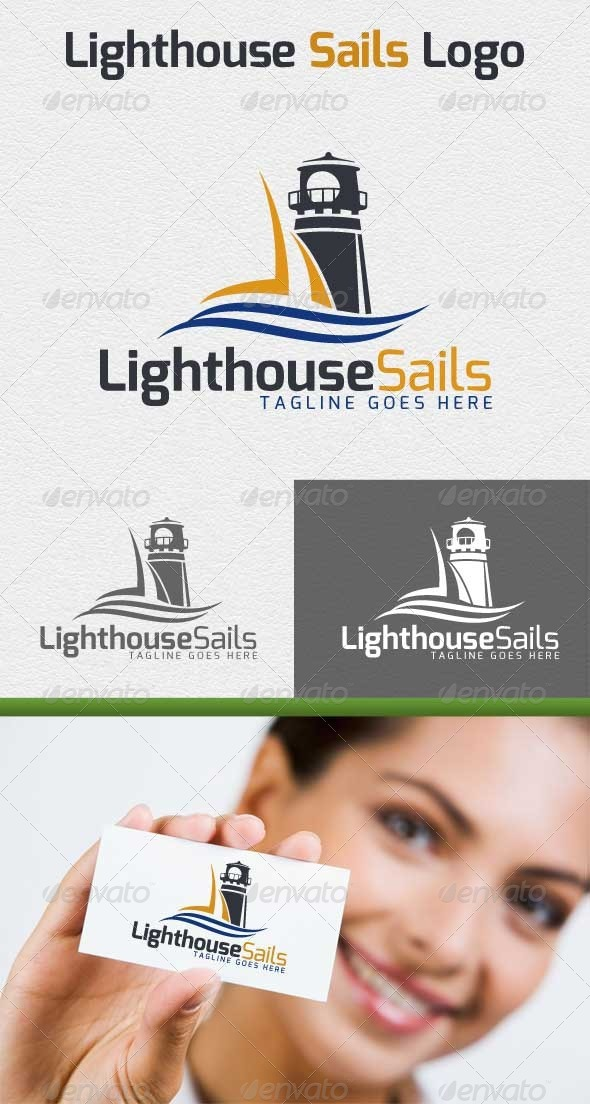 Lighthouse Sails Logo - Objects Logo Templates