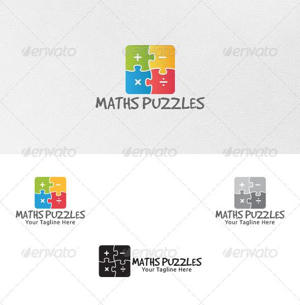 Maths Puzzles - Logo Template - Symbols Logo Templates