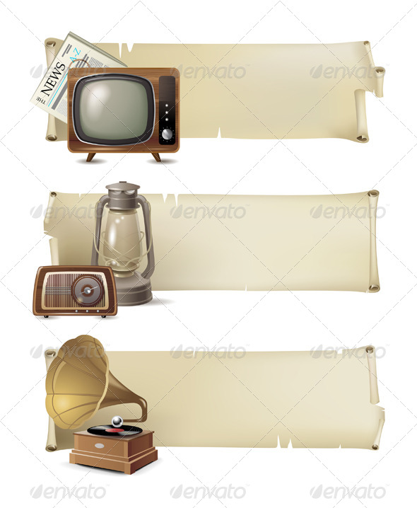 Vintage Banners - Retro Technology