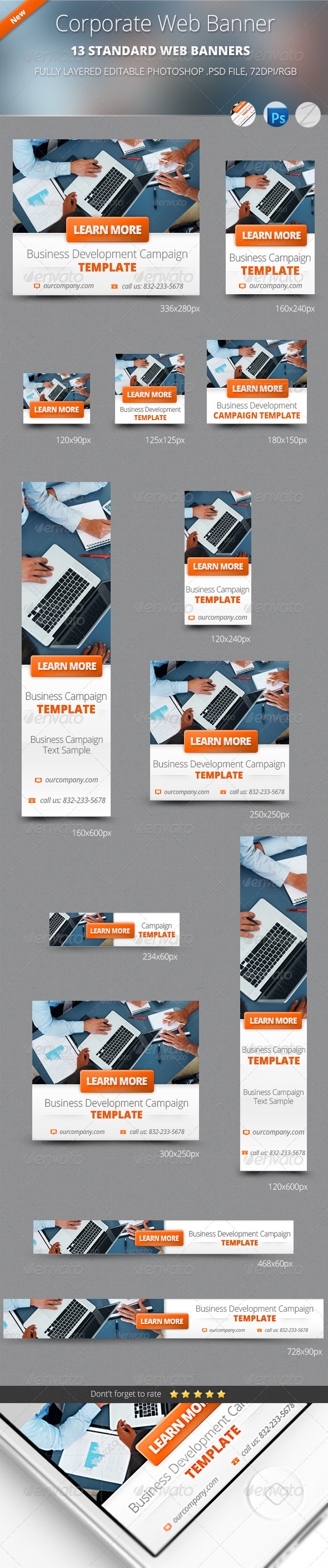Business Corporate Web Banners - Banners & Ads Web Elements