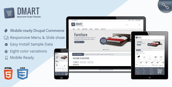 Dmart – Clean and Responsive Drupal Commerce theme