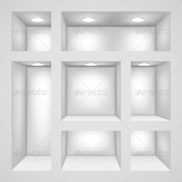 Empty Shelves - Objects Vectors