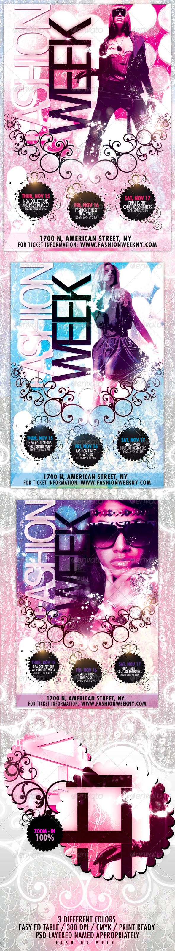 Fashion Week Flyer - Miscellaneous Events