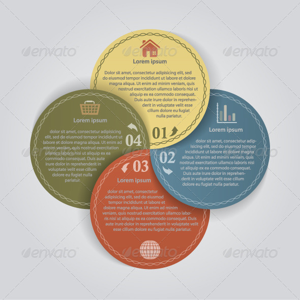 Business Color Papers Circles - 4 Options by infografx | GraphicRiver
