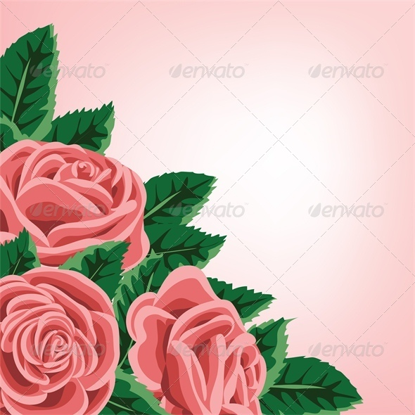 Template for Wedding, Invitation or Greeting Card  - Backgrounds Decorative
